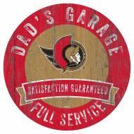 Ottawa Senators Dad's Garage Sign
