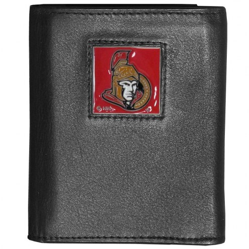 Ottawa Senators Deluxe Leather Tri-fold Wallet in Gift Box