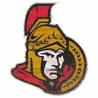 Ottawa Senators Distressed Logo Cutout Sign