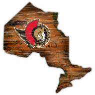 Ottawa Senators Distressed State with Logo Sign