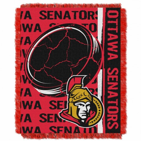 Ottawa Senators Double Play Woven Throw Blanket