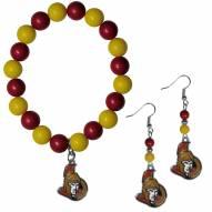 Ottawa Senators Fan Bead Earrings & Bracelet Set