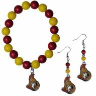 Ottawa Senators Fan Bead Earrings & Bracelet Set
