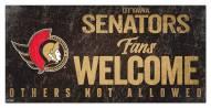 Ottawa Senators Fans Welcome Sign