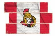 Ottawa Senators Flag 3 Plank Sign