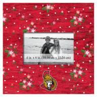 "Ottawa Senators Floral 10"" x 10"" Picture Frame"