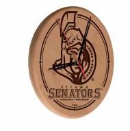 Ottawa Senators Laser Engraved Wood Clock