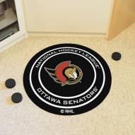 Ottawa Senators Hockey Puck Mat