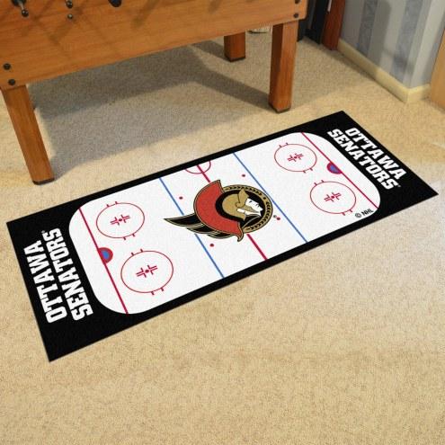 Ottawa Senators Hockey Rink Runner Mat