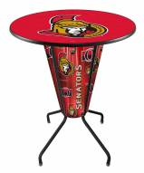 Ottawa Senators Indoor Lighted Pub Table