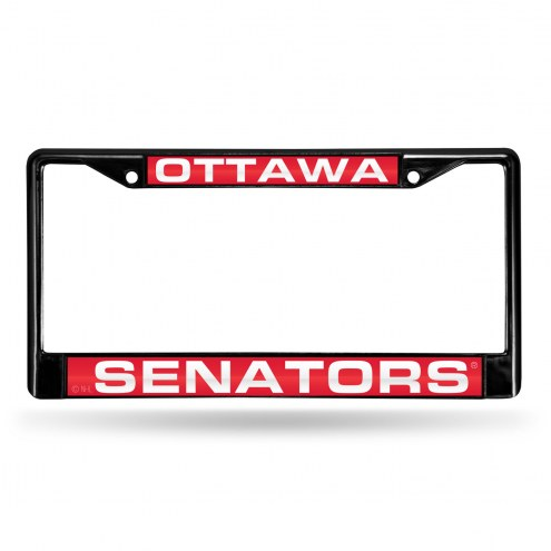 Ottawa Senators Laser Black License Plate Frame