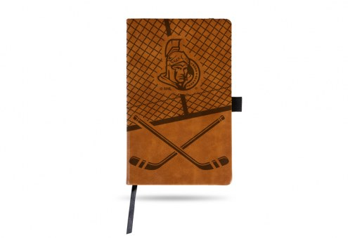 Ottawa Senators Laser Engraved Brown Notepad