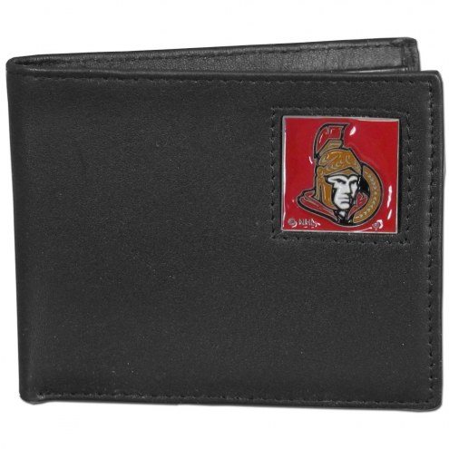 Ottawa Senators Leather Bi-fold Wallet in Gift Box