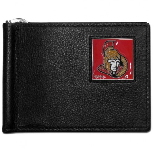 Ottawa Senators Leather Bill Clip Wallet