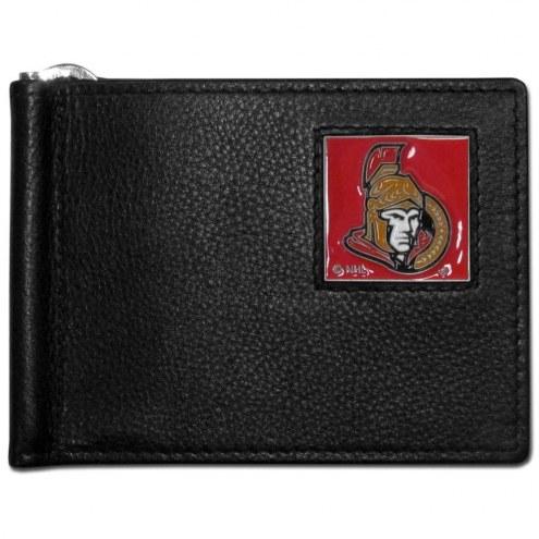 Ottawa Senators Leather Bill Clip Wallet