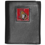 Ottawa Senators Leather Tri-fold Wallet