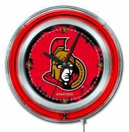 Ottawa Senators Neon Clock