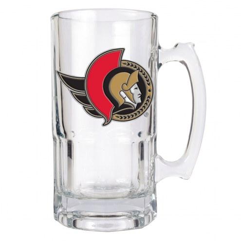 Ottawa Senators NHL 1 Liter Glass Macho Mug
