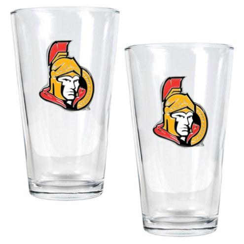 Ottawa Senators NHL Pint Glass - Set of 2