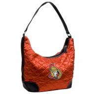 Ottawa Senators Quilted Hobo Handbag