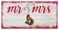 Ottawa Senators Script Mr. & Mrs. Sign