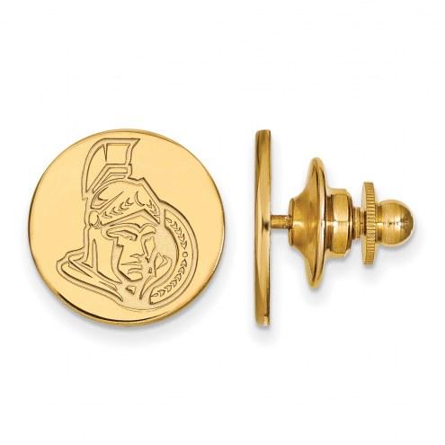 Ottawa Senators Sterling Silver Gold Plated Lapel Pin