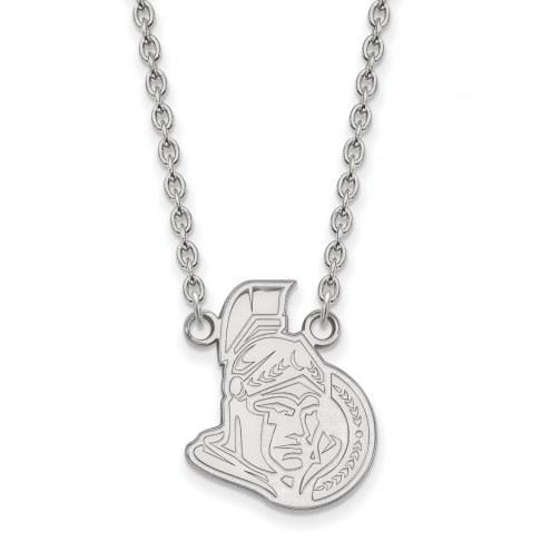 Ottawa Senators Sterling Silver Large Pendant Necklace