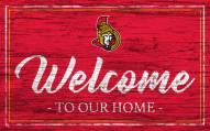Ottawa Senators Team Color Welcome Sign