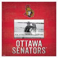 """Ottawa Senators Team Name 10"""" x 10"""" Picture Frame"""