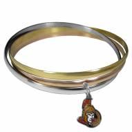 Ottawa Senators Tri-color Bangle Bracelet