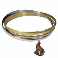 Ottawa Senators Tri-color Bangle Bracelet