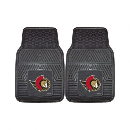 Ottawa Senators Vinyl 2-Piece Car Floor Mats