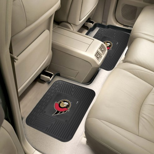 Ottawa Senators Vinyl 2-Piece Rear Floor Mats