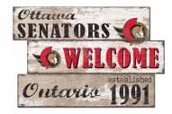 Ottawa Senators Welcome 3 Plank Sign