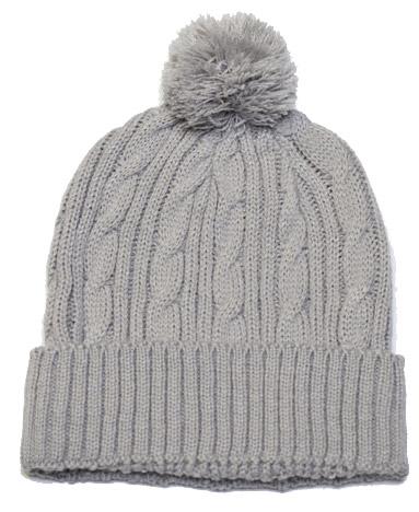Pacific Headwear Cable Knit Pom-Pom Custom Beanie
