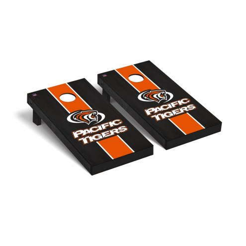 Pacific Tigers Onyx Stained Cornhole Game Set