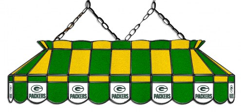 """Green Bay Packers NFL Team 40"""" Rectangular Stained Glass Shade"""