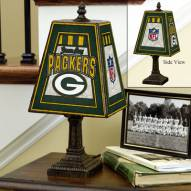 Green Bay Packers NFL Hand-Painted Art Glass Table Lamp