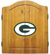 Green Bay Packers NFL Complete Dart Board Cabinet Set (w/darts & flights)