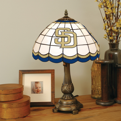 San Diego Padres MLB Stained Glass Table Lamp