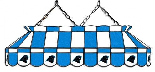 "Carolina Panthers NFL Team 40"" Rectangular Stained Glass Shade"
