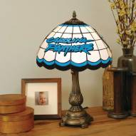 Carolina Panthers NFL Stained Glass Table Lamp