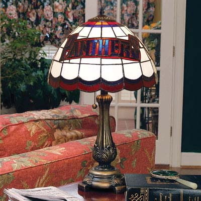Florida Panthers NHL Stained Glass Table Lamp