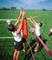 Park & Sun Tri-Ball Pro Set Specialty and Institutional Volleyball Net System