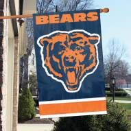 Chicago Bears NFL Embroidered / Applique 2 - Sided Flag