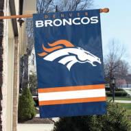 Denver Broncos NFL Applique 2-Sided Banner Flag