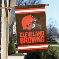 Cleveland Browns Traditional Helmet Applique 2-Sided Banner Flag