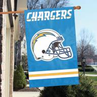 Los Angeles Chargers NFL Applique 2-Sided Banner Flag