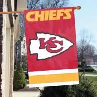 Kansas City Chiefs NFL Applique 2-Sided Banner Flag