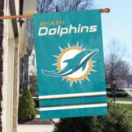 Miami Dolphins NFL Applique 2-Sided Banner Flag